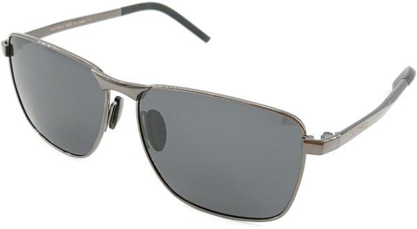 På billedet ser du variationen Cleanse, unisex solbriller med etui fra brandet Veithdia i en størrelse H: 4,6 cm. B: 5,8 cm. i farven Grå