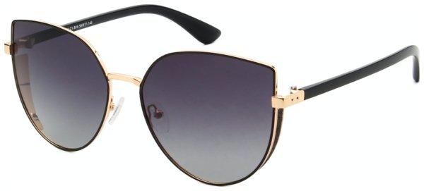 På billedet ser du variationen Cat-Eye solbriller til kvinder, Donna fra brandet Solbrillerne.dk i en størrelse H: 59 cm. B: 17 cm. L: 143 cm. i farven Sort