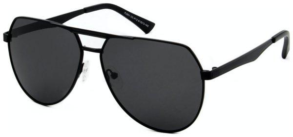 På billedet ser du variationen Pilot solbriller til mænd, Luxe fra brandet Solbrillerne.dk i en størrelse H: 61 cm. B: 13 cm. L: 142 cm. i farven Sort