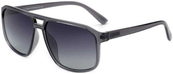 På billedet ser du variationen Pilot solbriller til mænd, Faux fra brandet Solbrillerne.dk i en størrelse H: 54 cm. B: 16 cm. L: 148 cm. i farven Grå