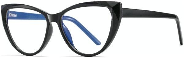 På billedet ser du et stemningsbillede (#2) fra Cat-Eye bluelight briller til kvinder, Flash fra brandet Solbrillerne.dk i en størrelse H: 54 cm. B: 16 cm. L: 147 cm. i farven Sort