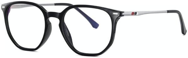 På billedet ser du et stemningsbillede (#6) fra Regulær bluelight briller, Intro fra brandet Solbrillerne.dk i en størrelse H: 54 cm. B: 20 cm. L: 145 cm. i farven Sort