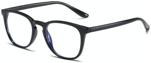 På billedet ser du et stemningsbillede (#5) fra Regulær bluelight briller, Indo fra brandet Solbrillerne.dk i en størrelse H: 52 cm. B: 21 cm. L: 140 cm. i farven Sort